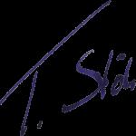 Unterschrift des Geigenbaumeisters Thomas Stöhr