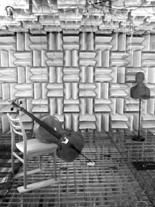Cello-Aufnahmen im schalltoten Raum